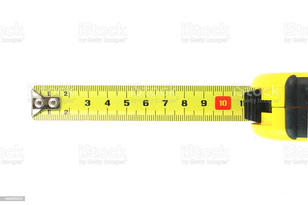 Tape Measure cordon tape stock photo