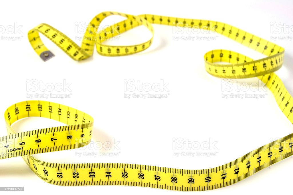 Tape measure frame royalty-free stock photo