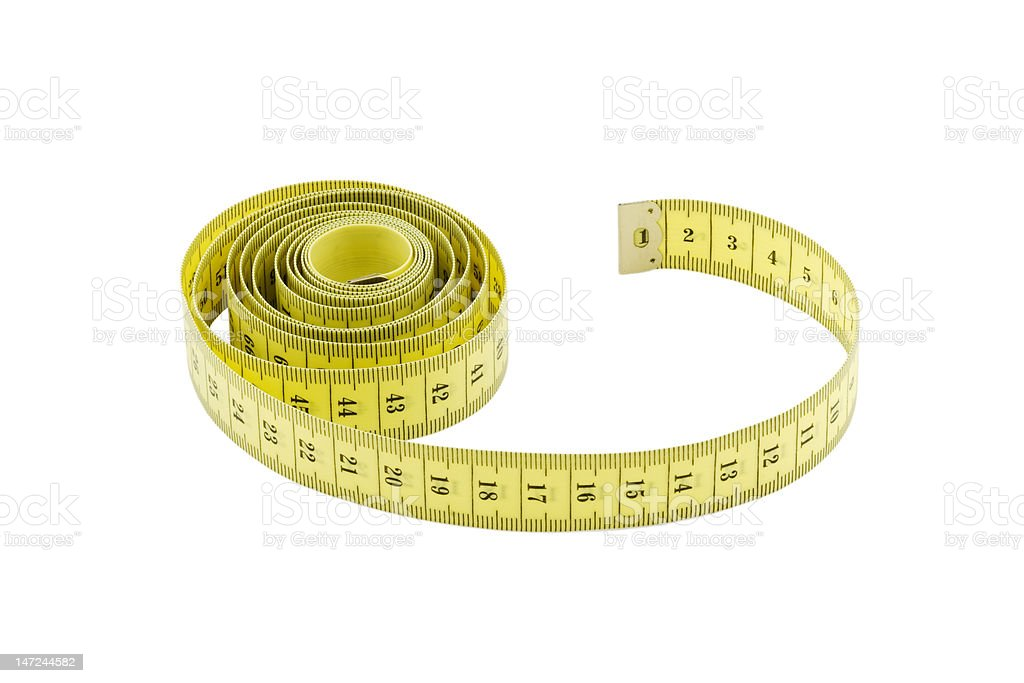 tape measure isolated on white background royalty-free stock photo