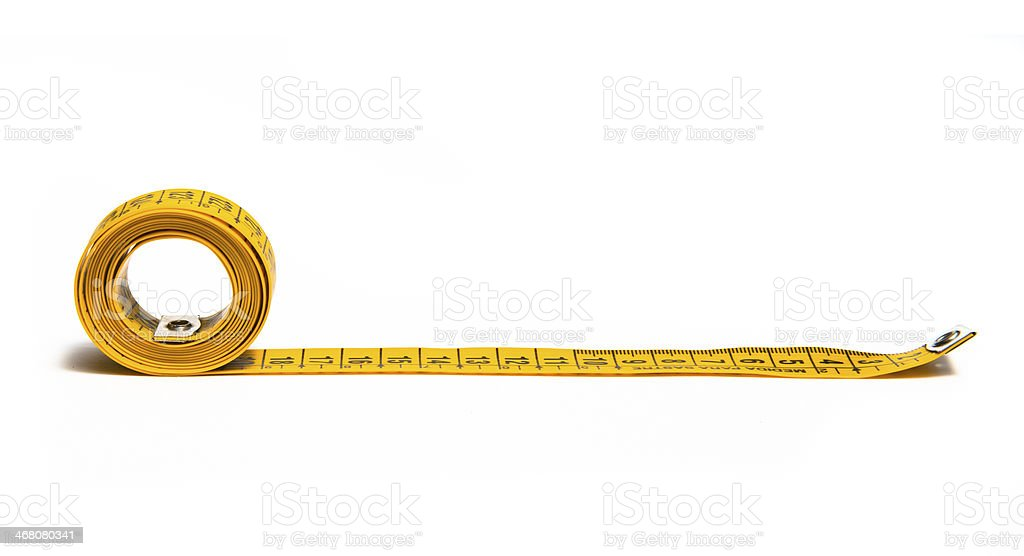 tape measure isolated on white stock photo