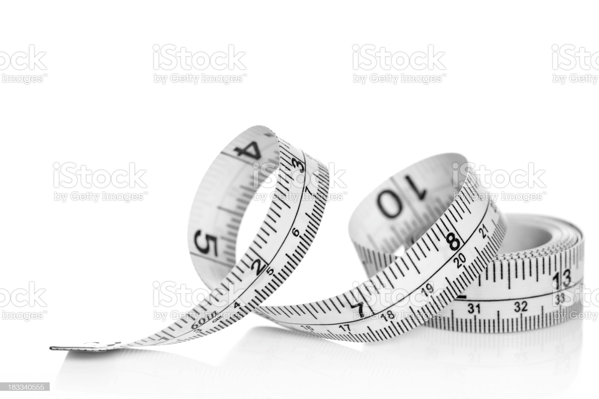 Tape measure on white background royalty-free stock photo