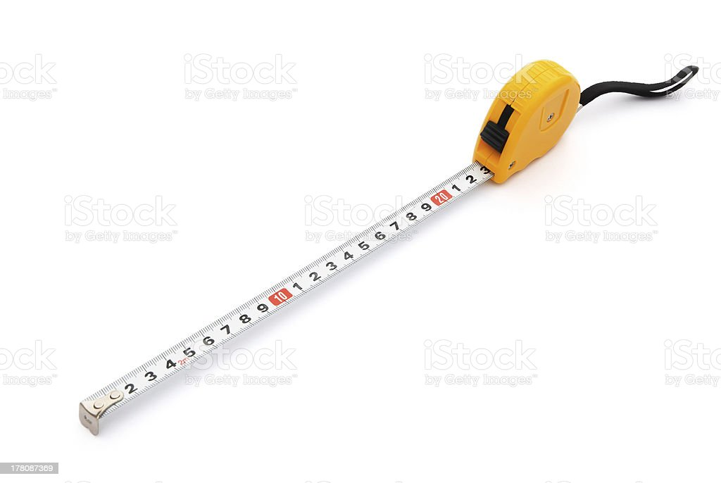 tape measure on white with clipping path royalty-free stock photo