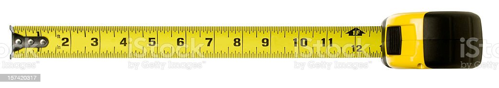 Tape measure with clipping path stock photo
