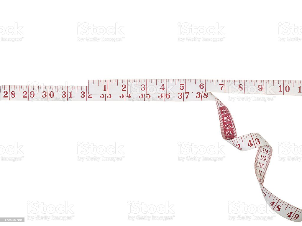 Tape measure with clipping path royalty-free stock photo