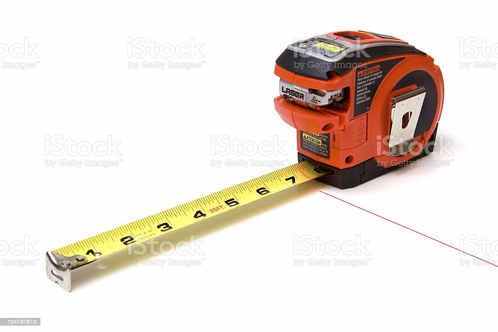 Tape Measure with Laser royalty-free stock photo
