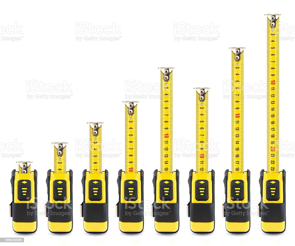 Tape Measures stock photo