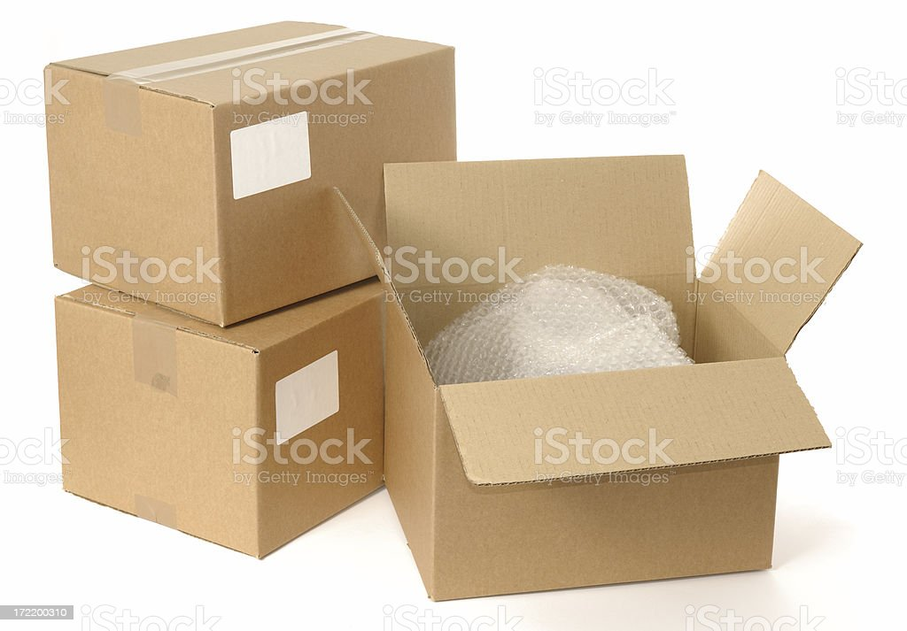 Tape on a Box royalty-free stock photo