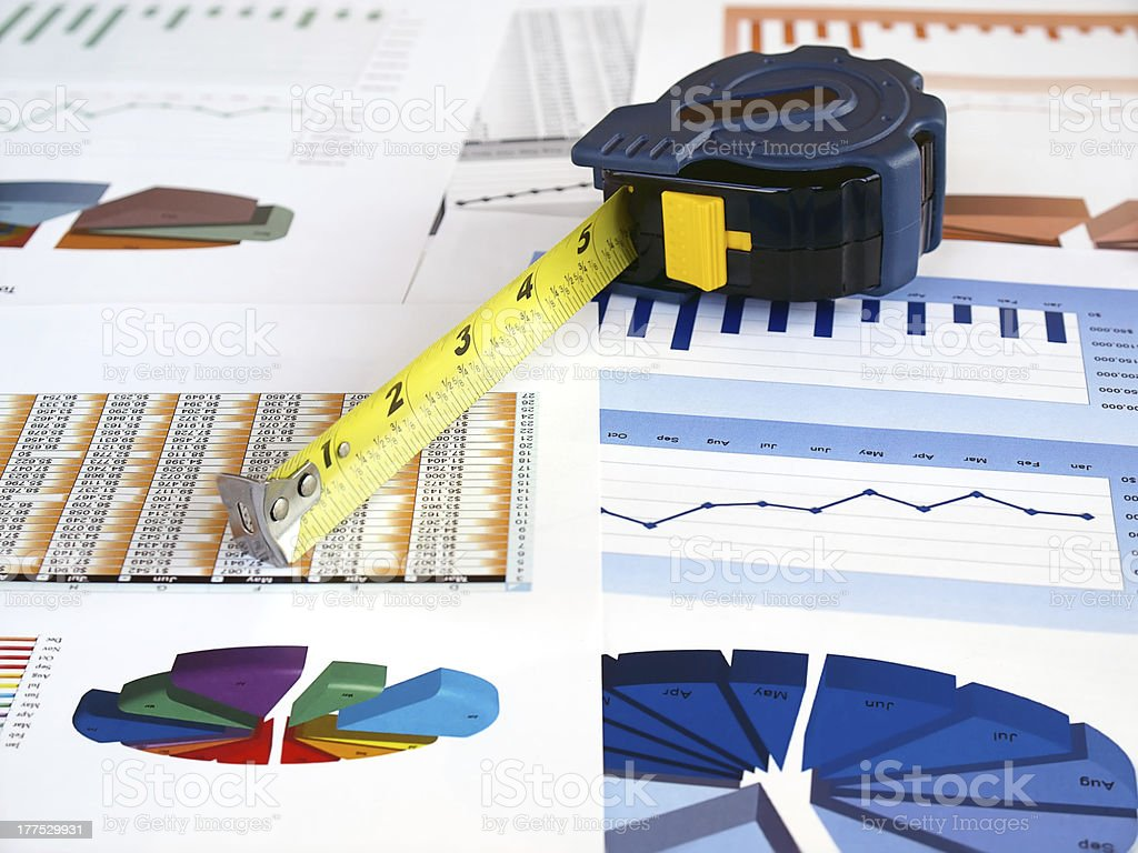 Tape on Investment Charts royalty-free stock photo