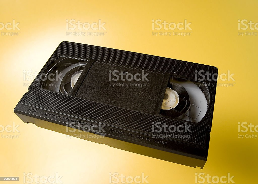 VHS tape royalty-free stock photo