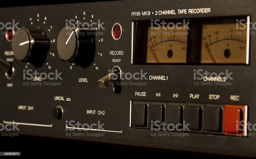 Tape Recorder Buttons stock photo