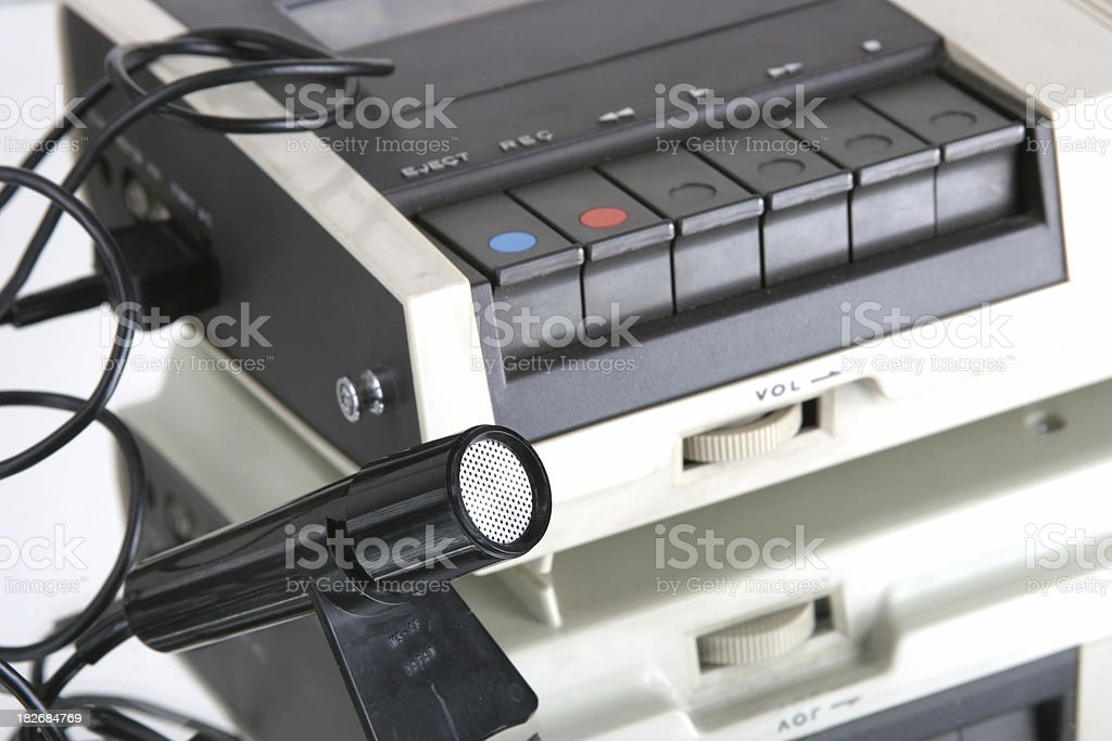 tape recorder royalty-free stock photo