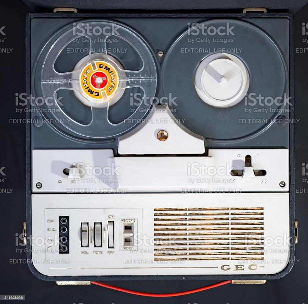 GEC Tape Recorder stock photo