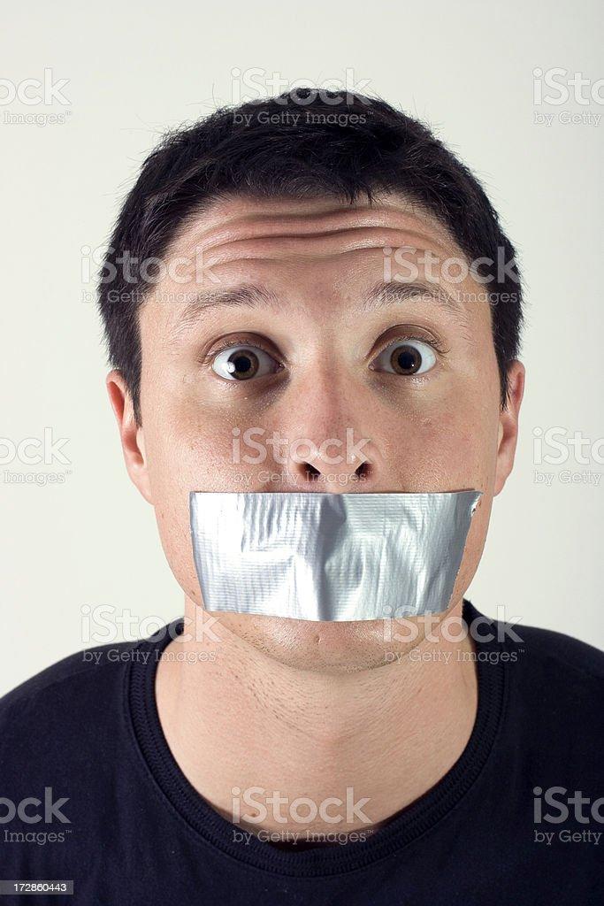 Tape shut stock photo