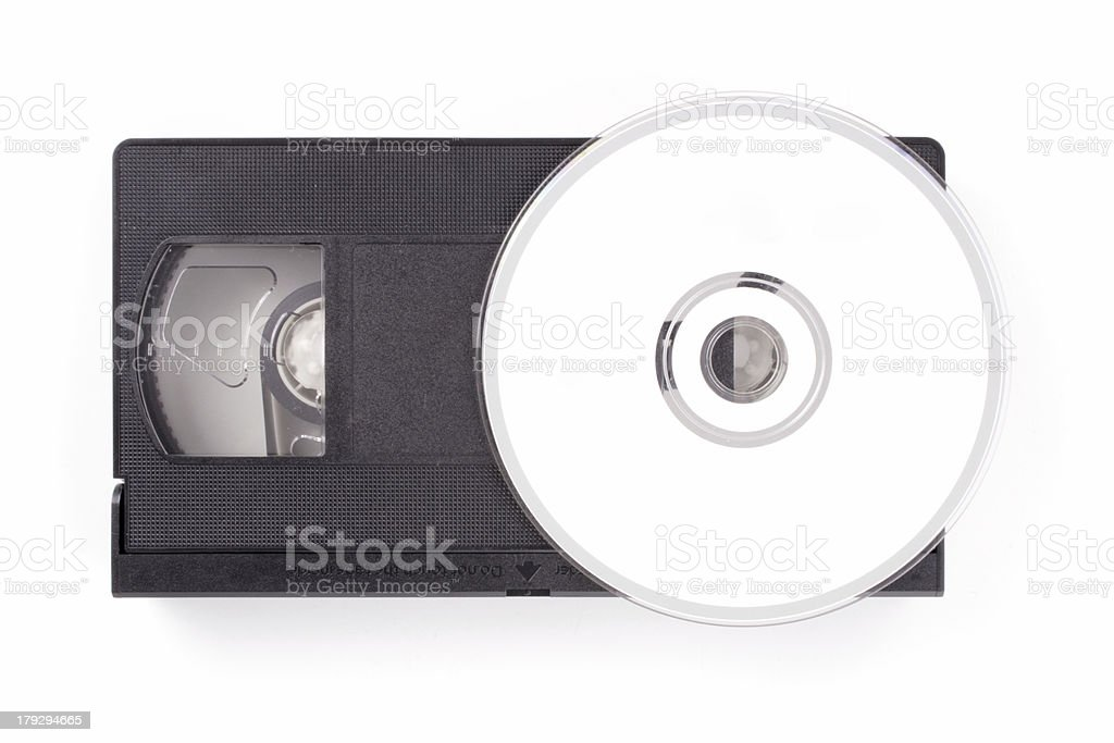 Tape to DVD service royalty-free stock photo