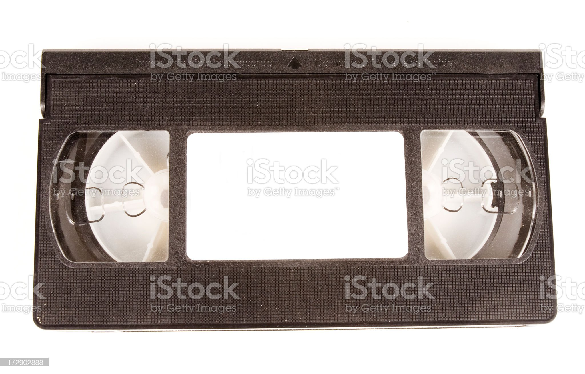 VCR Tape with blank label royalty-free stock photo