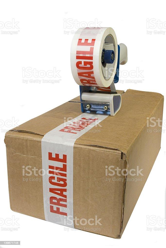 Taped box royalty-free stock photo