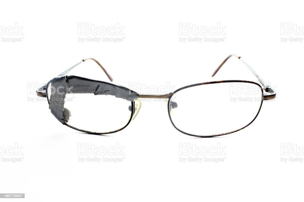 Taped Broken Glasses stock photo