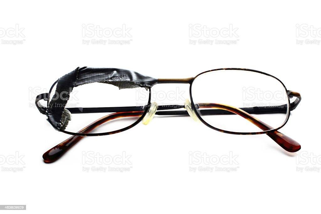 Taped Damage Eyeglasses stock photo