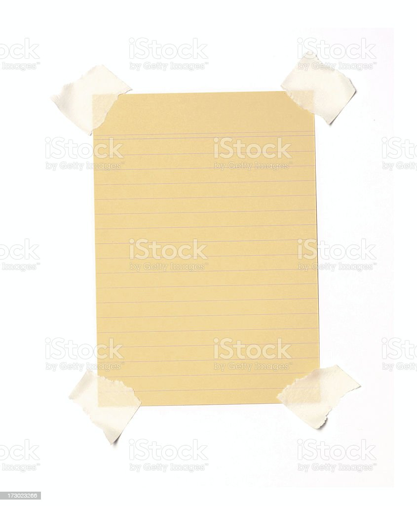 Taped note royalty-free stock photo