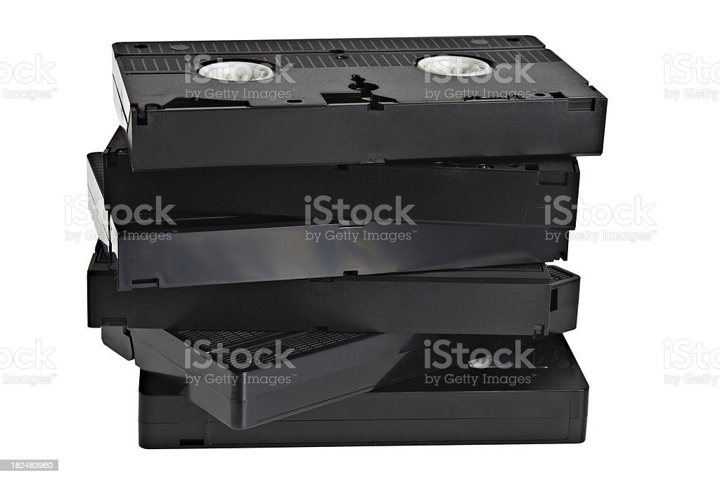 VHS Tapes royalty-free stock photo