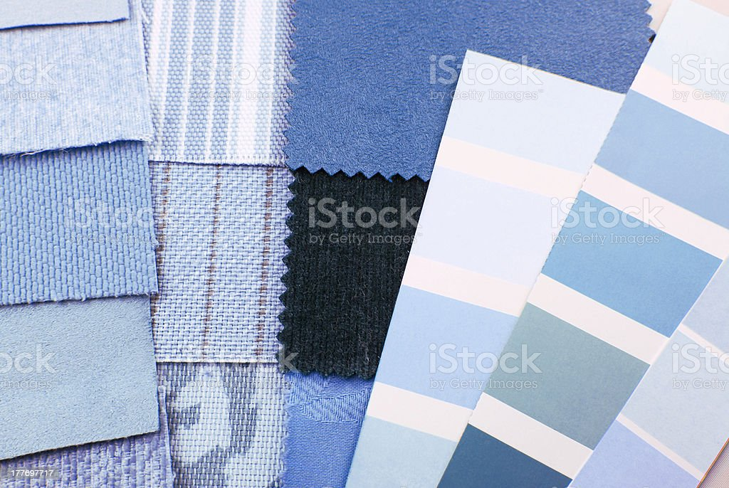 tapestry and upholstery color selection royalty-free stock photo
