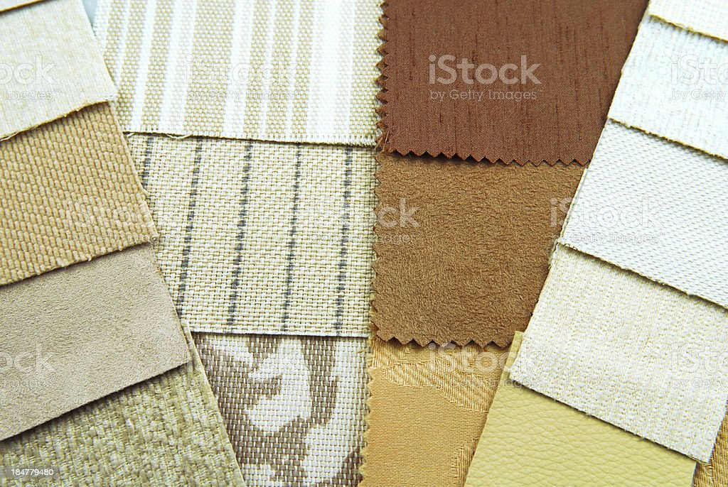 tapestry and upholstery color selection stock photo