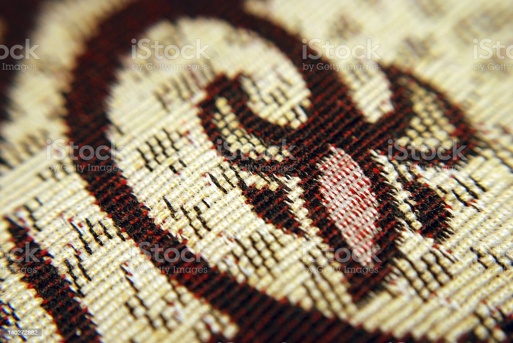 Tapestry detail royalty-free stock photo