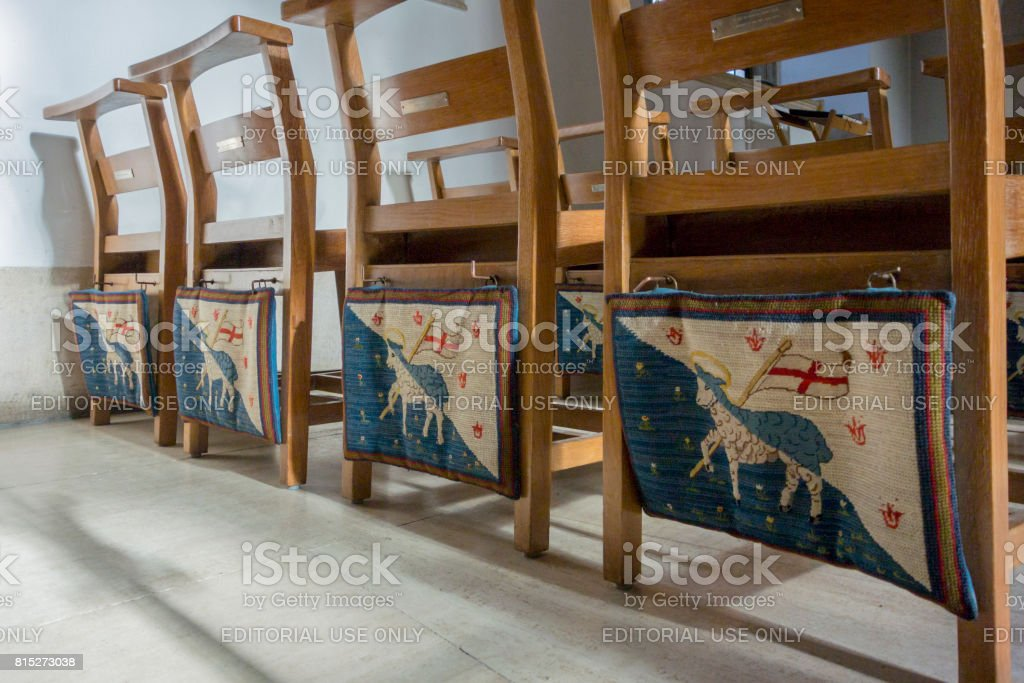 Tapestry Kneelers stock photo