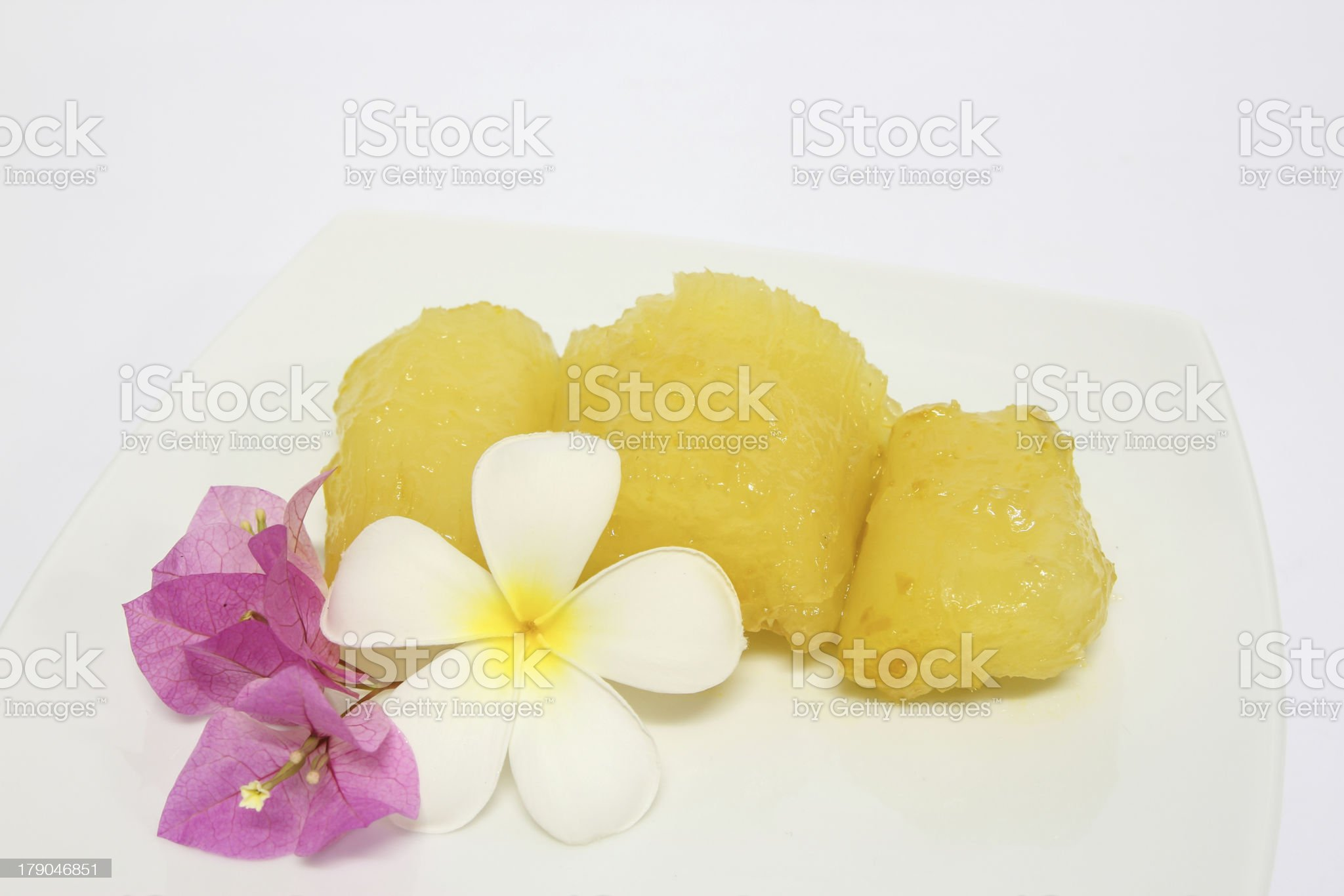 Tapioca in Syrup royalty-free stock photo