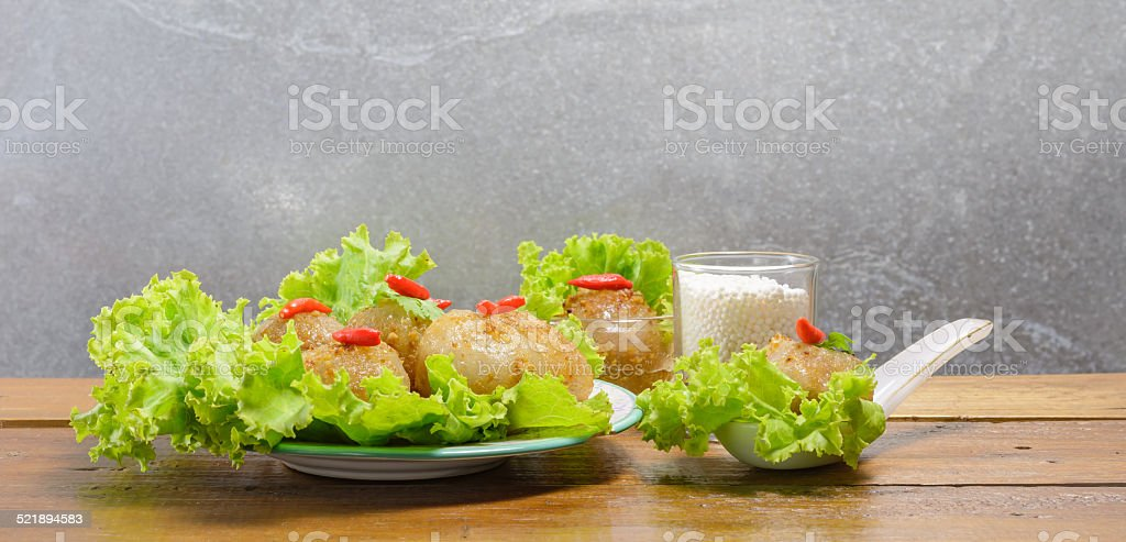 tapioca pearls food stock photo
