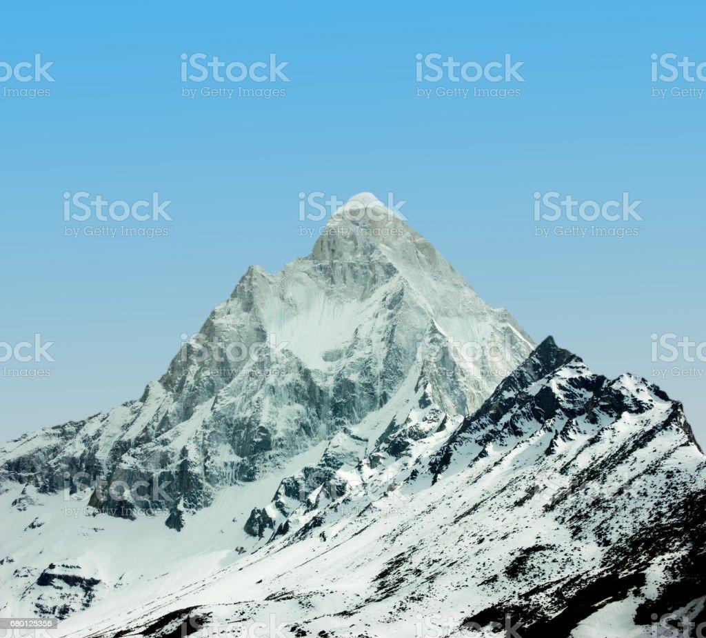 Tapovan - Shivling mountain peak in Himalaya stock photo