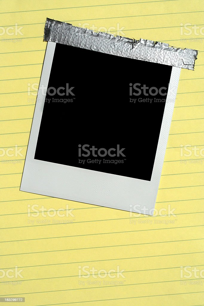 Tapped Picture royalty-free stock photo