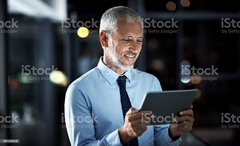 Tapping into business stock photo