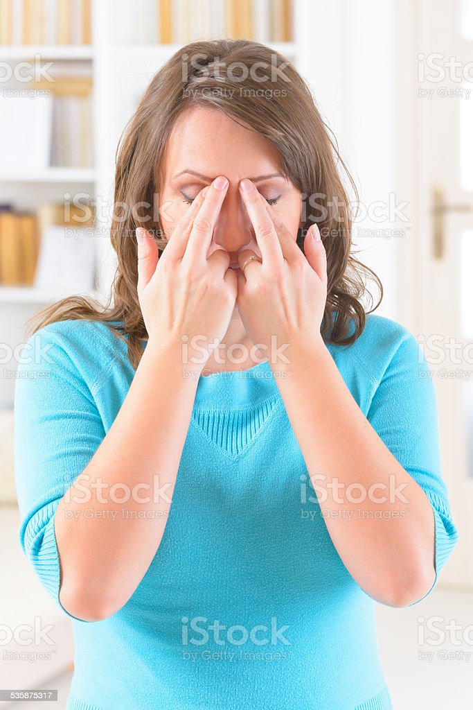 EFT tapping points stock photo