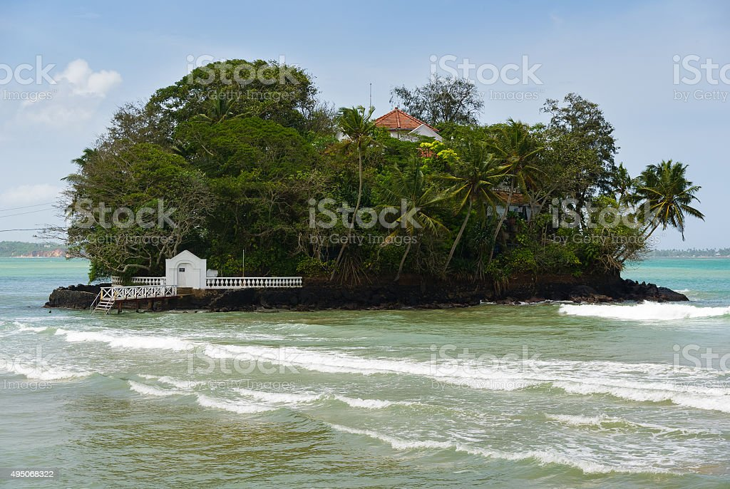 Taprobane Island, Arthur C. Clarke's House stock photo