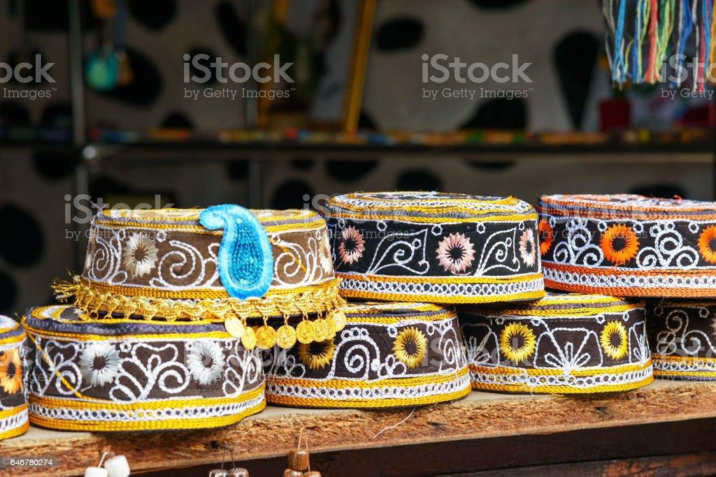 Taqiyah, rounded skullcap stock photo