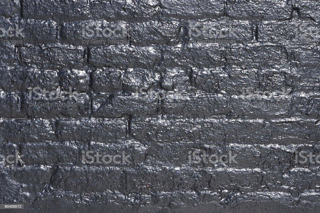 Tar Brick Wall Texture royalty-free stock photo