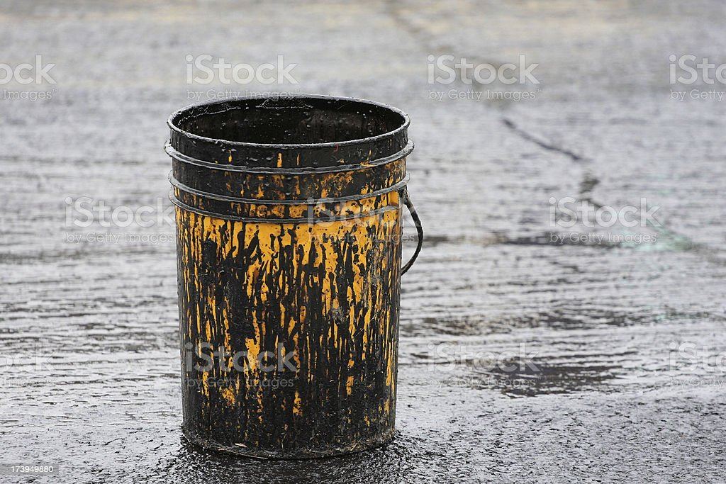 Tar Bucket stock photo