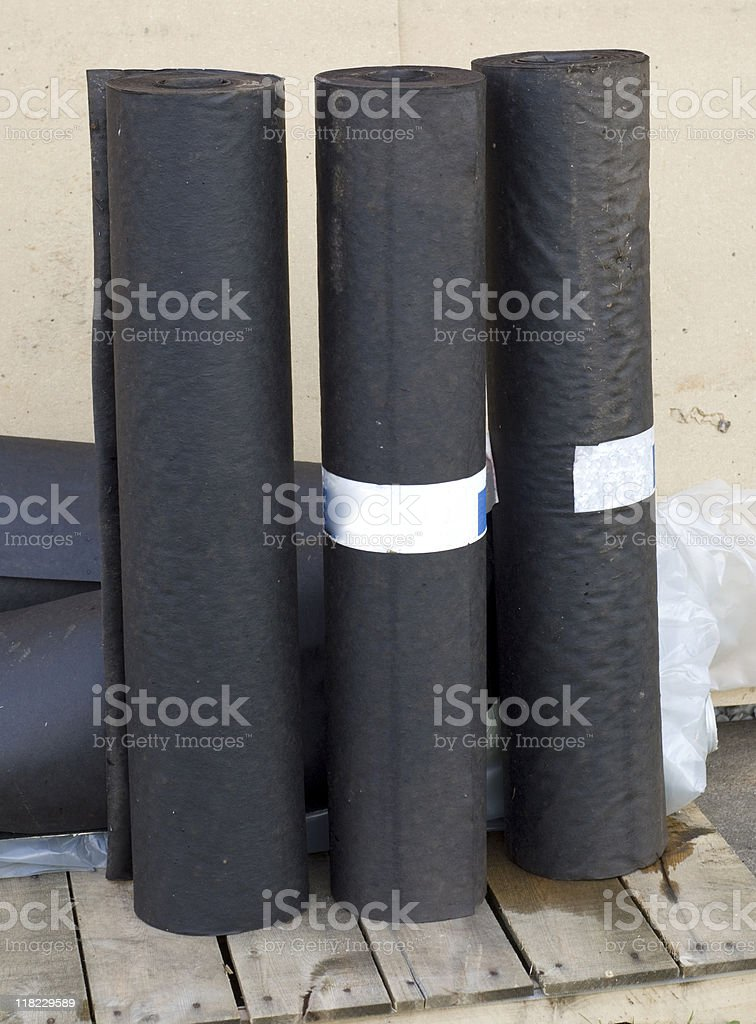 Tar Paper royalty-free stock photo