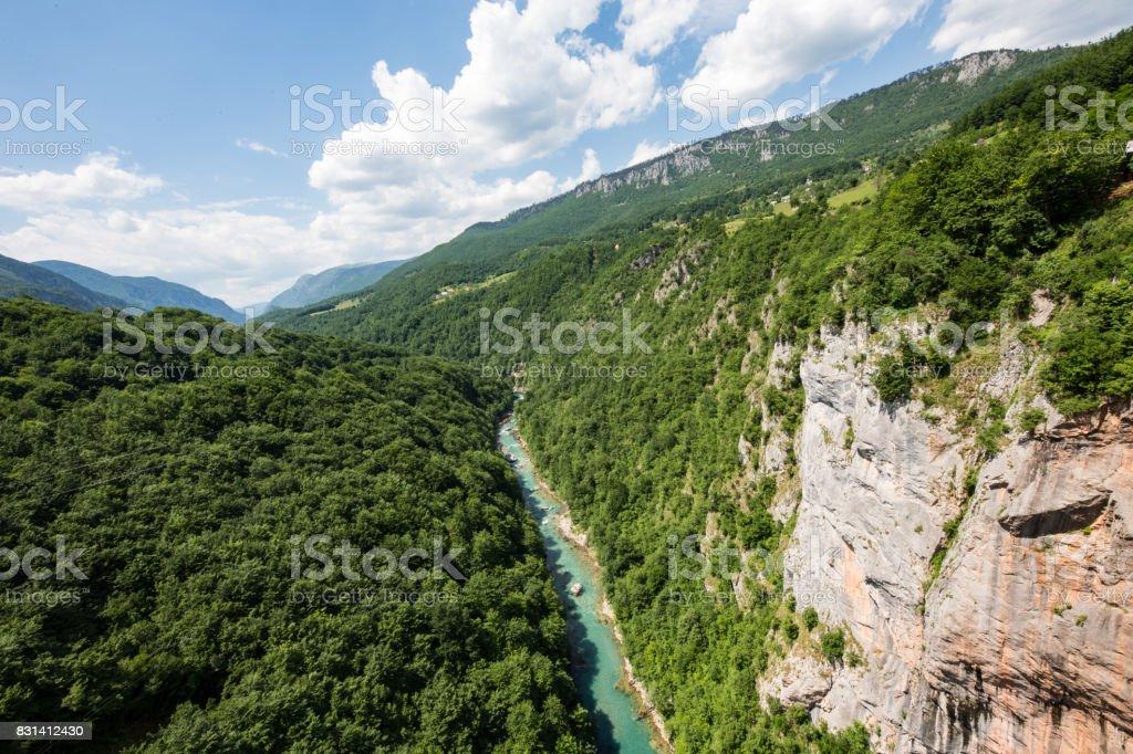 Tara gorge Durmitor Nationalpark Montenegro stock photo