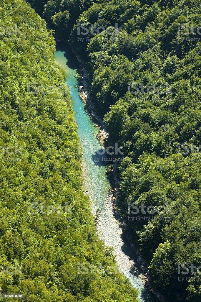 Tara River, aerial view stock photo