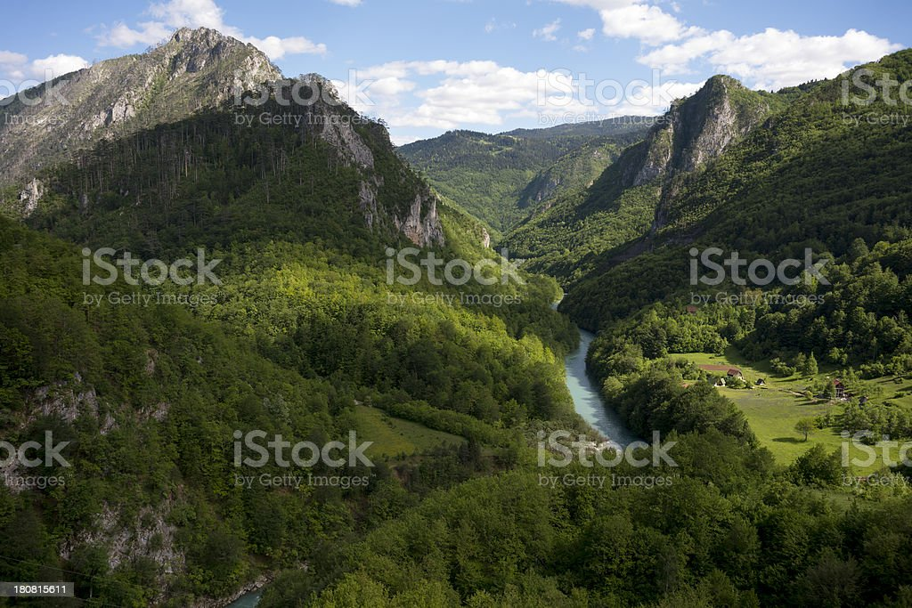 Tara river canyon royalty-free stock photo