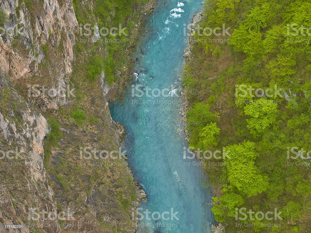 Tara river stock photo