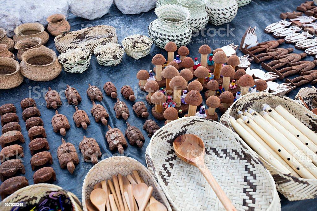 Tarahumara crafts, Chihuahua stock photo