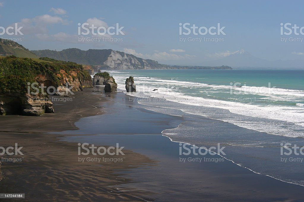 Taranaki coastline and region of New Zealand stock photo