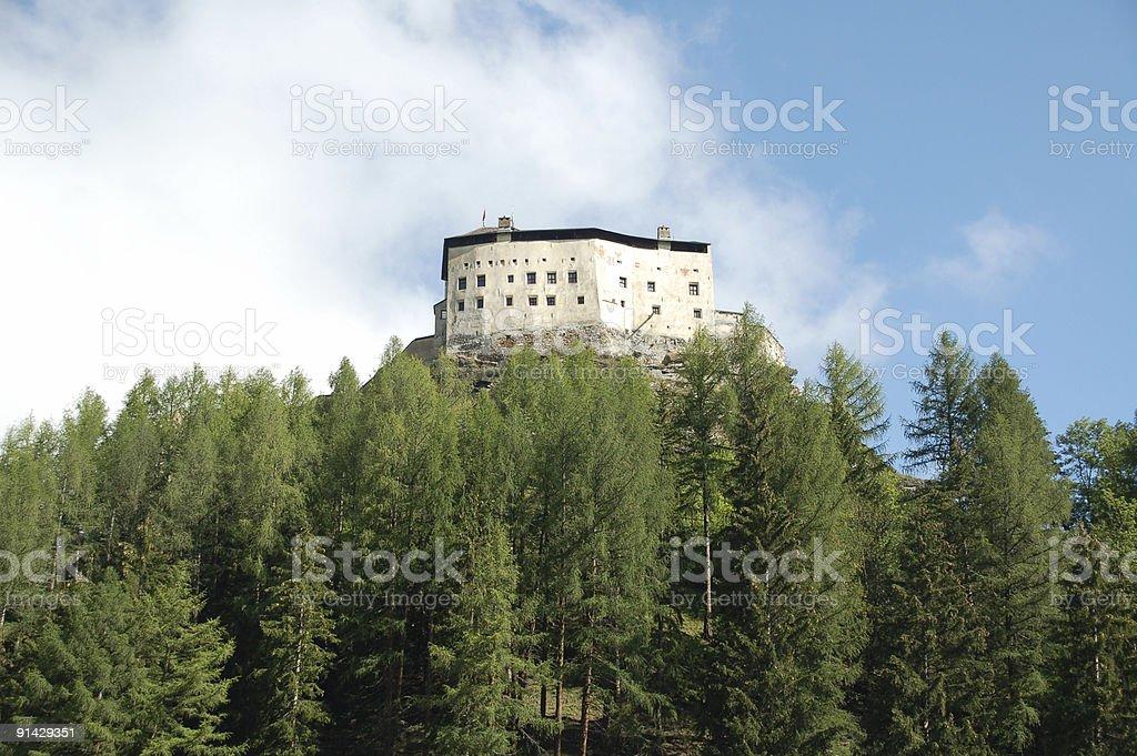 Tarasp Castle in Engadine royalty-free stock photo