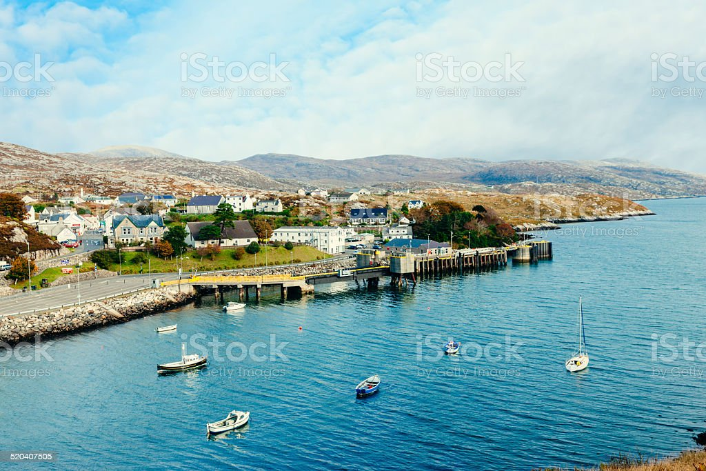 Tarbert, Outer Hebrides, Scotland stock photo
