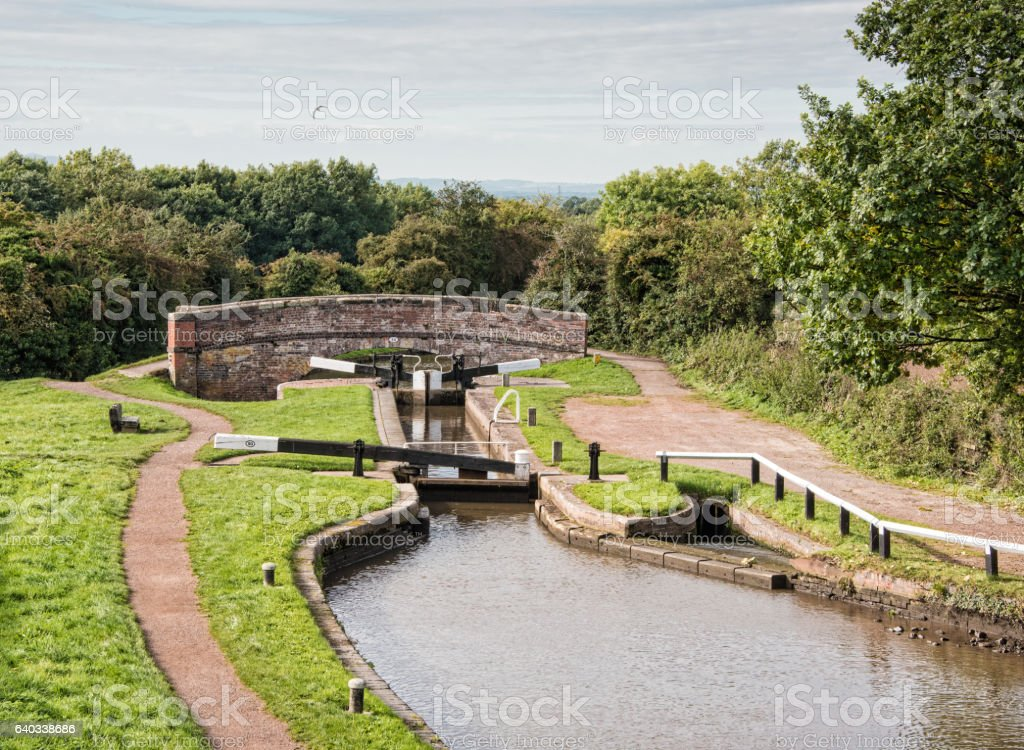 Tardebigge Lock number 50 stock photo