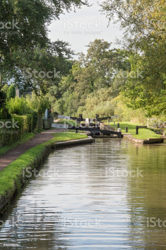 Tardebigge Lock number 53 stock photo