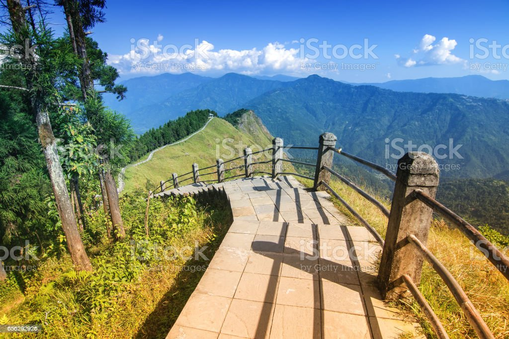 Tarey Bhir point, Namchi, Sikkim, India stock photo